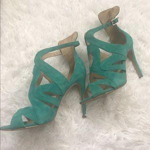 Zara Basic Teal Heels